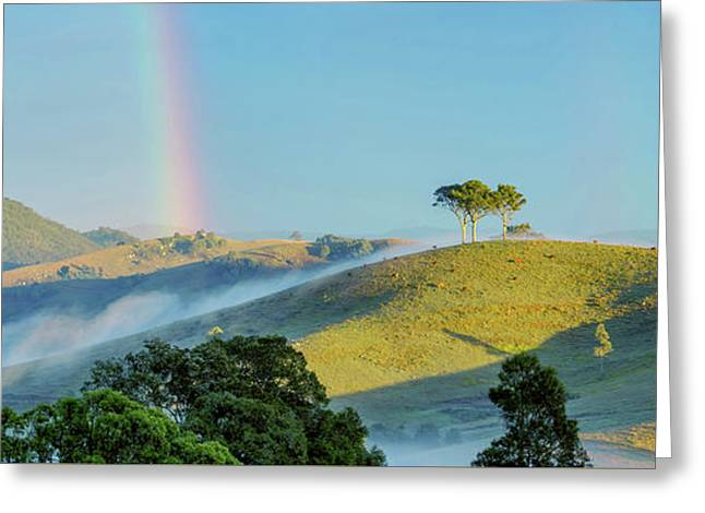 Rainbow Mountain Greeting Card by Az Jackson