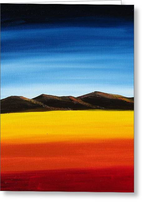 Rainbow Mountains Greeting Card by Liz Vernand