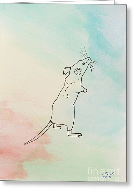 Rainbow Mouse Greeting Card