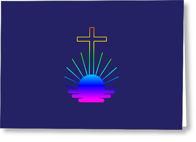 Rainbow New Apostolic Symbol Greeting Card by Frederick Holiday