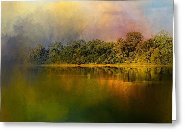 Rainbow Of Color At The River Greeting Card by Jai Johnson