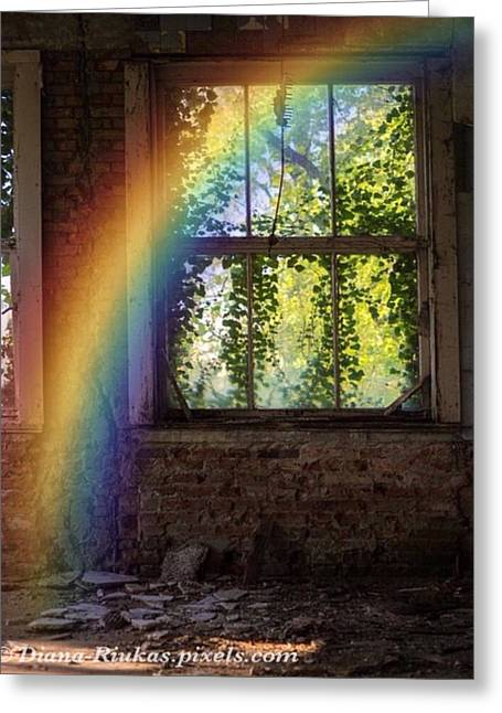 Rainbow Of Hope Greeting Card by Diana Riukas