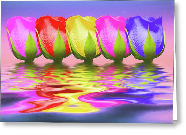 Rainbow Of Roses II Greeting Card