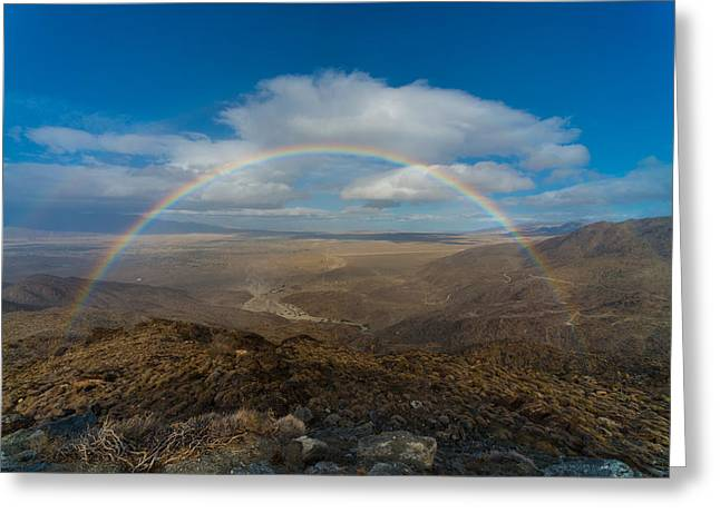 Rainbow Over Borrego Springs Greeting Card
