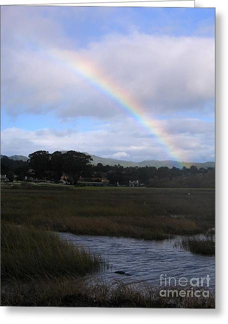 Rainbow Over Carmel Wetlands Greeting Card