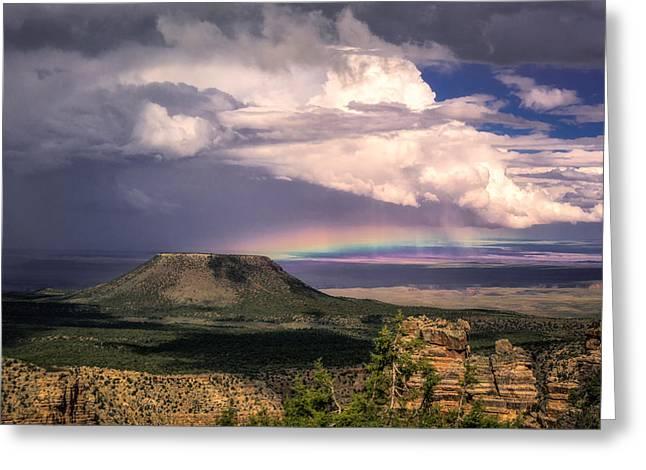 Rainbow Over Cedar Mountain Greeting Card