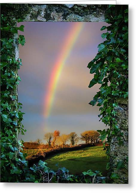 Greeting Card featuring the photograph Rainbow Over County Clare, Ireland, by James Truett
