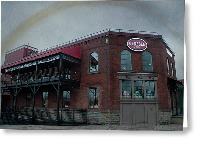 Rainbow Over Genesee Beer Greeting Card