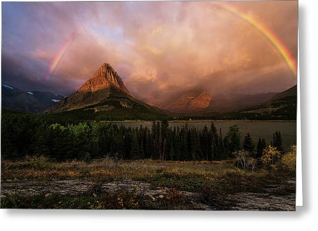 Rainbow Over Mt Gould Greeting Card