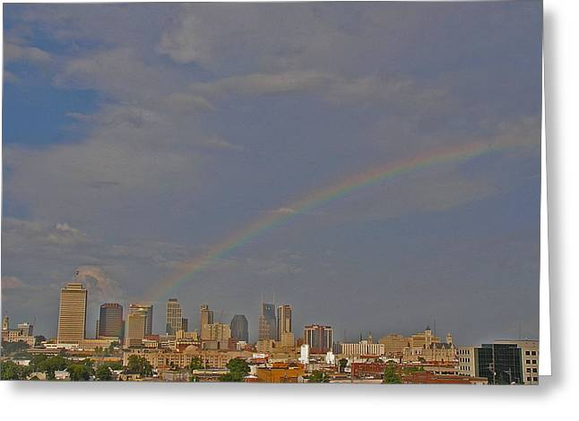 Rainbow Over Nashville Greeting Card by Randy Muir