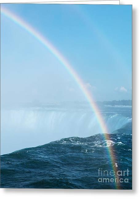 Rainbow Over Niagara Falls Greeting Card by Oleksiy Maksymenko