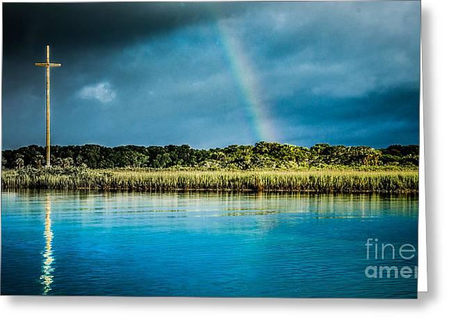 Rainbow Over Nombre De Dios Greeting Card by Jim DeLillo