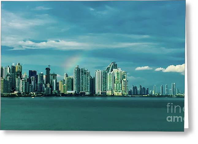 Rainbow Over Panama City Greeting Card