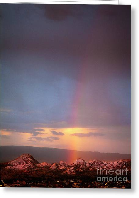 Rainbow Over The Dells Greeting Card