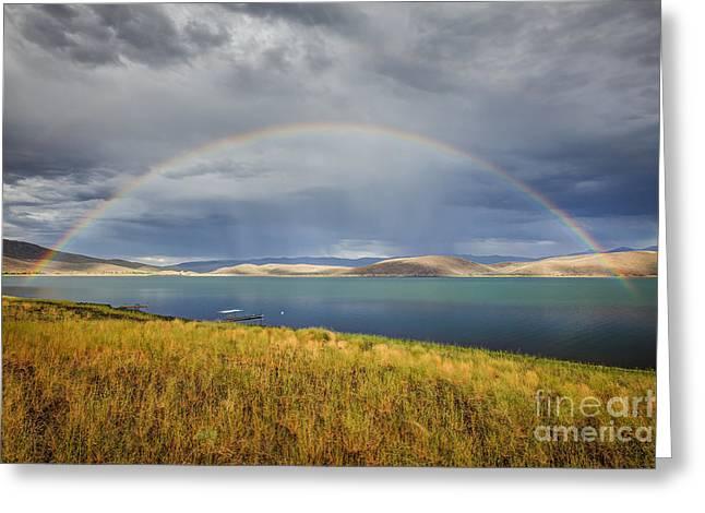 Rainbow Over Topaz Lake Greeting Card