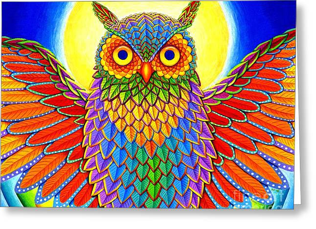 Rainbow Owl Greeting Card