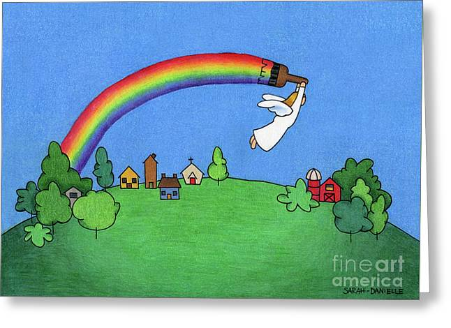 Rainbow Painter Greeting Card