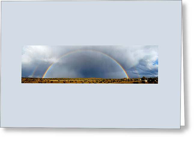 Rainbow Panorama Greeting Card by Mary Lee Dereske