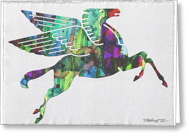 Rainbow Pegasus Mobil Print Poster Greeting Card