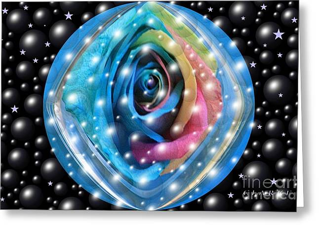 Rose Planet Greeting Card