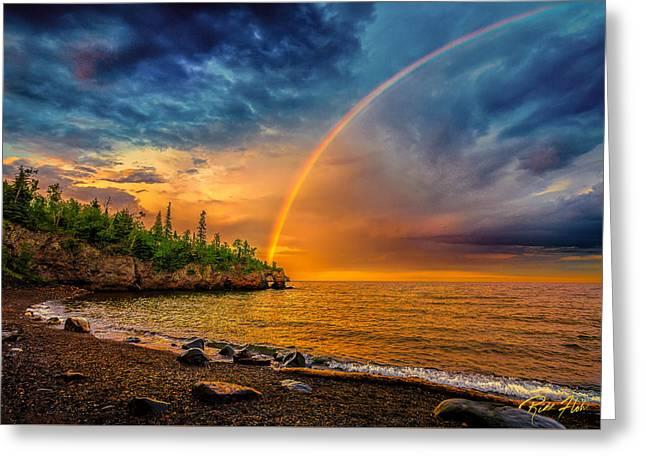 Rainbow Point Greeting Card by Rikk Flohr