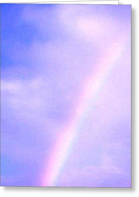 Rainbow Greeting Card by Radical Reconstruction Fine Art Featuring Nancy Wood