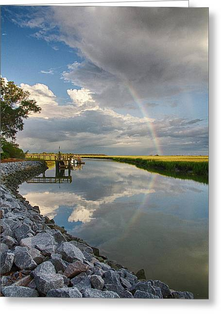 Rainbow Reflection Greeting Card by Patricia Schaefer