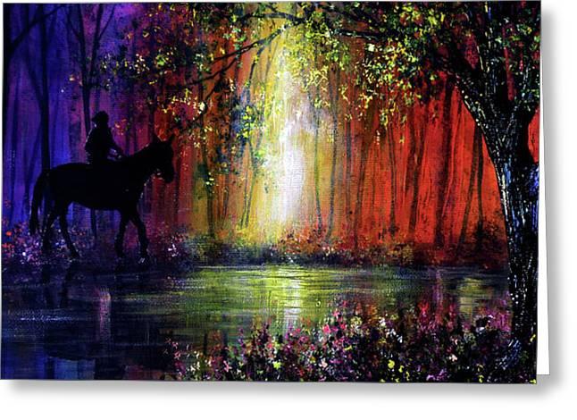 Rainbow Ride Greeting Card by Ann Marie Bone