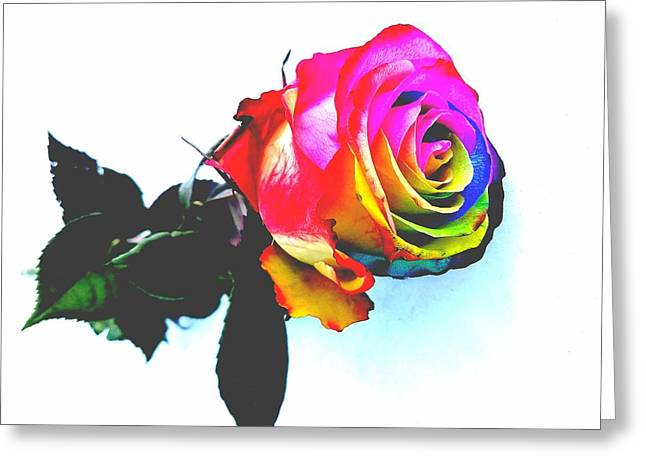Rainbow Rose 2 Greeting Card