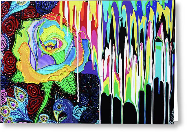 Rainbow Rose Greeting Card by Laura Barbosa