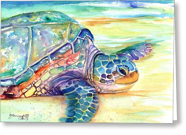 Rainbow Sea Turtle 2 Greeting Card