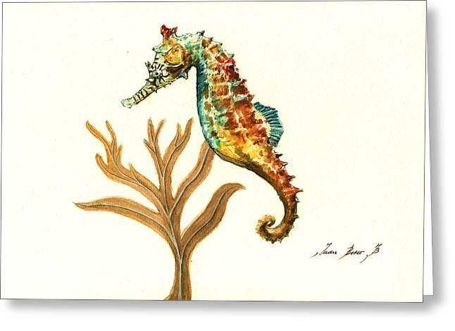 Rainbow Seahorse Greeting Card
