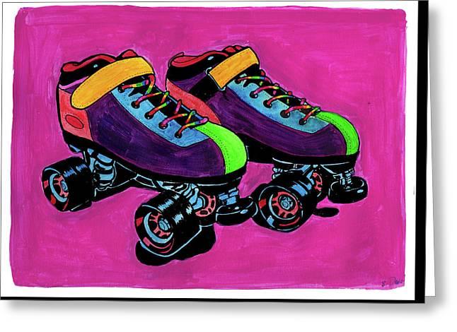 Rainbow Skates Greeting Card by Brandy Devoid