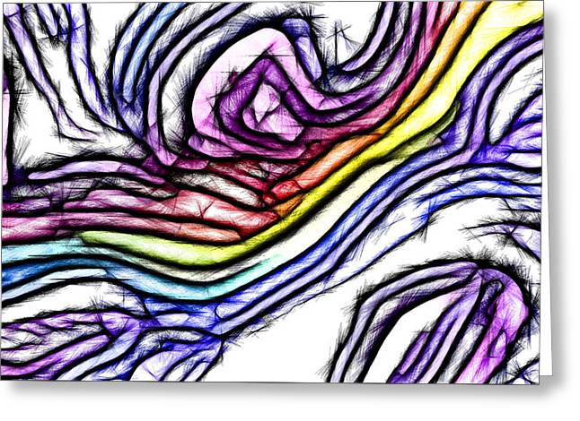 Rainbow Slide 1 Greeting Card