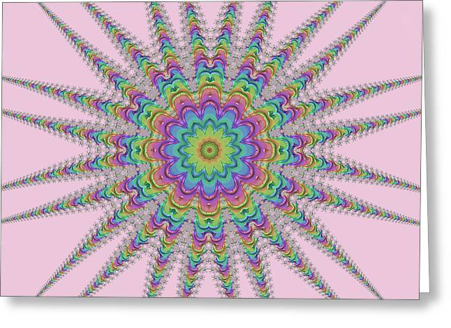 Rainbow Star Greeting Card by Elaine Teague
