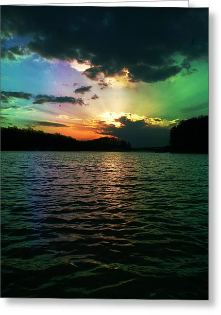 Rainbow Sunset Greeting Card by Adam LeCroy