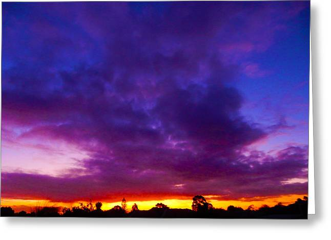Rainbow Sunset Greeting Card by Mark Blauhoefer