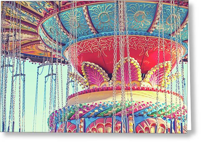 Rainbow Swings Greeting Card by Melanie Alexandra Price