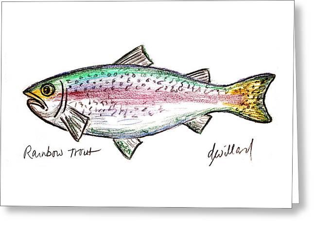 Rainbow Trout  Greeting Card by Deborah Willard
