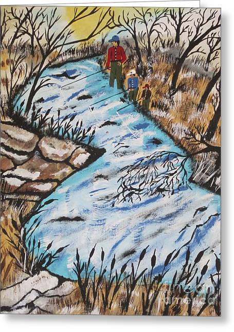 Rainbow Trout  Greeting Card by Jeffrey Koss