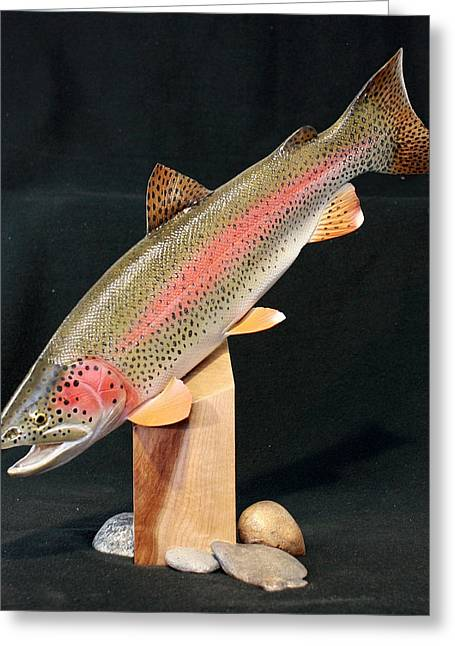 Rainbow Trout On Maple 15 Greeting Card by Eric Knowlton