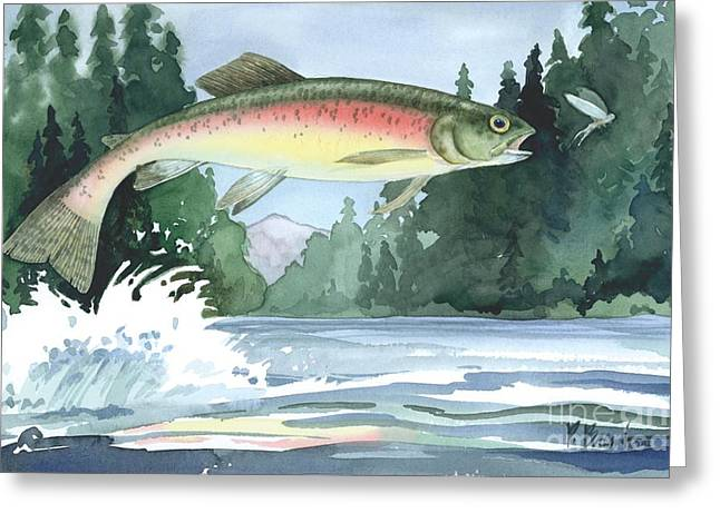 Rainbow Trout Greeting Card by Paul Brent