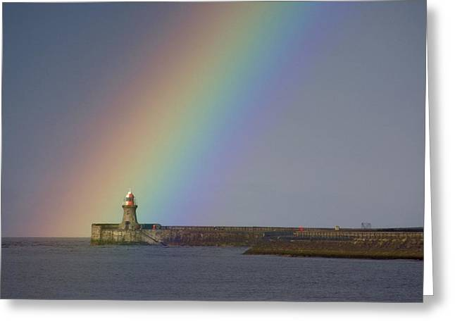 Rainbow, Tyne And Wear, England Greeting Card by John Short