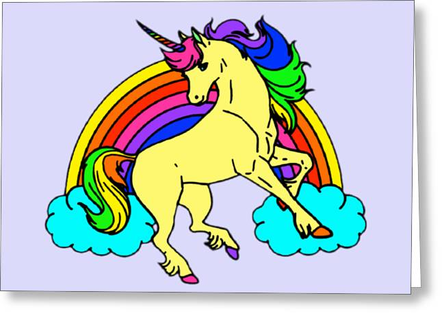 Rainbow Unicorn Greeting Card by Stephanie Brock