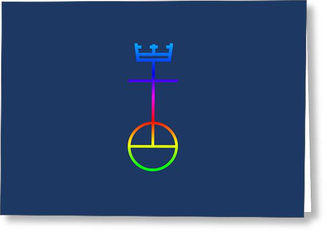 Rainbow United Church Of Christ Symbol Greeting Card by Frederick Holiday