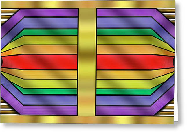 Greeting Card featuring the digital art Rainbow Wall Hanging Horizontal by Chuck Staley