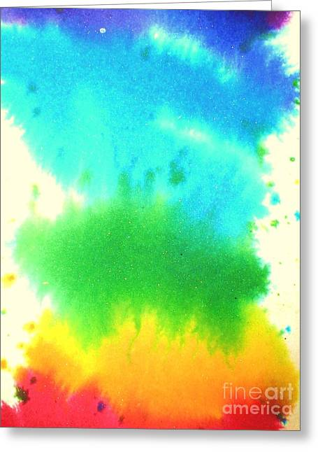 Rainbow Wash Greeting Card by Chandelle Hazen