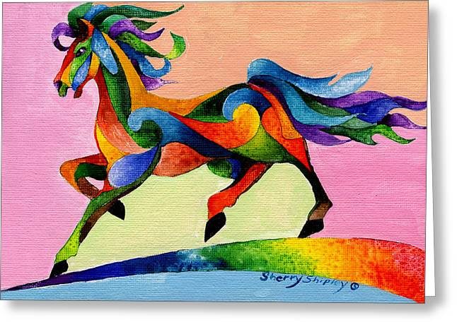 Rainbow Wind Greeting Card