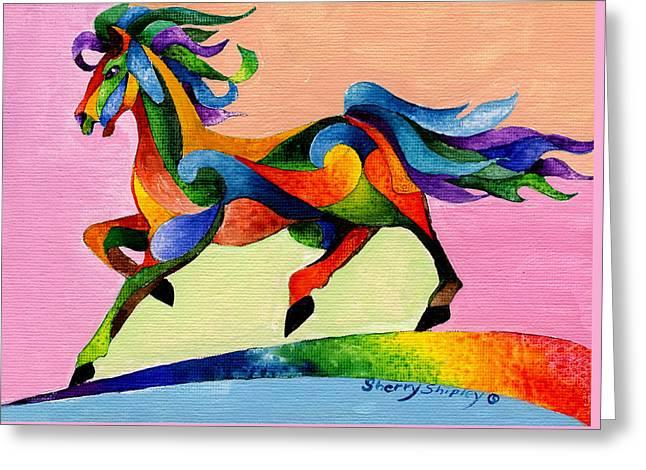 Rainbow Wind Greeting Card