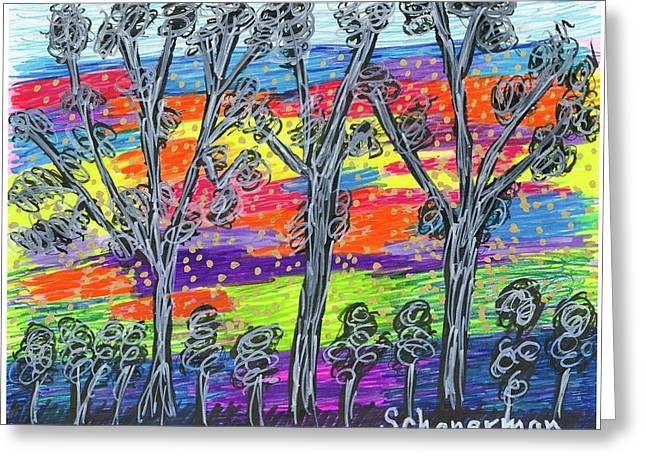 Rainbow Woods Greeting Card
